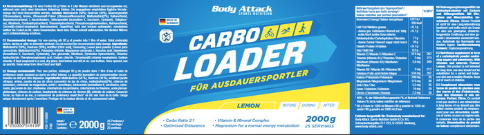 Body attack carbo loader 2000g