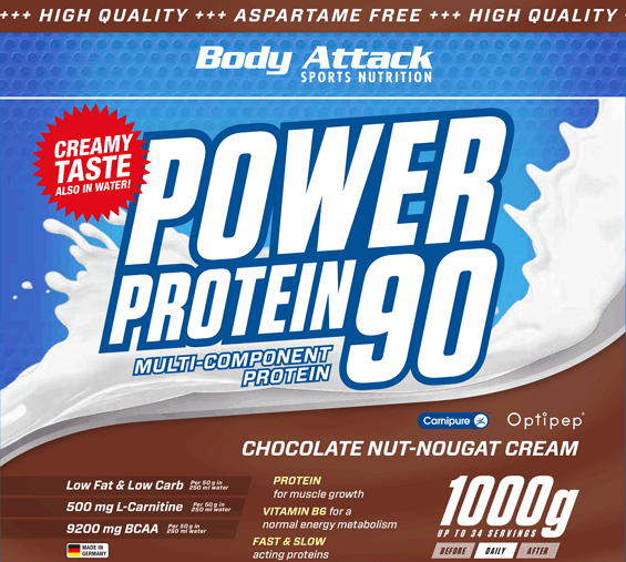 Body Attack Power Protein 90, 1000 g
