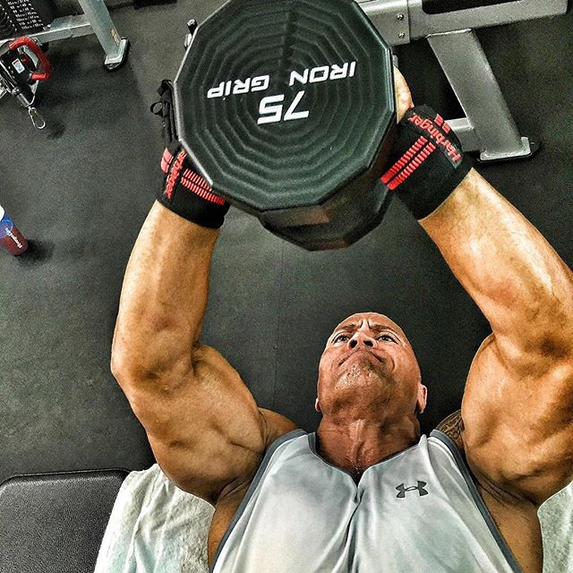 Dwayne The Rock Johnson Harbinger fitness bandaze
