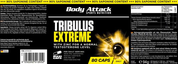 TRIBULUS XETREME BODY ATTACK 80MAXI CAPS