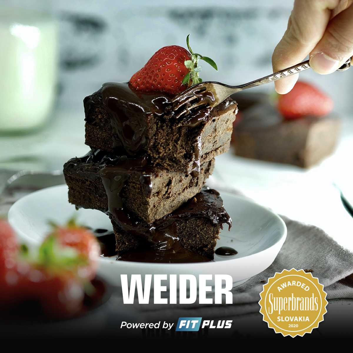 proteín, weider, brownies, recept, protein brownies, sladke recepty, fit recept, rychly, bananove brownies