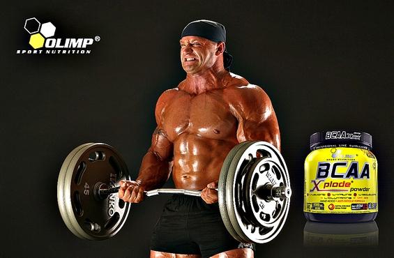 BCAA aminokyseliny Xplode na svaly pred a po treningu 1000g cena