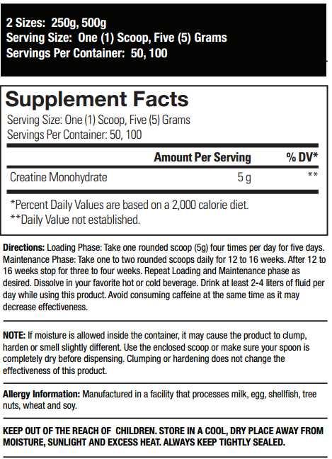 Max Muscle cratine 500g monohydrat cena davkovanie