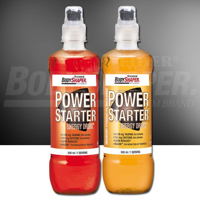 WEIDER POWER STARTER Energy drink 500ml cena pred treningom