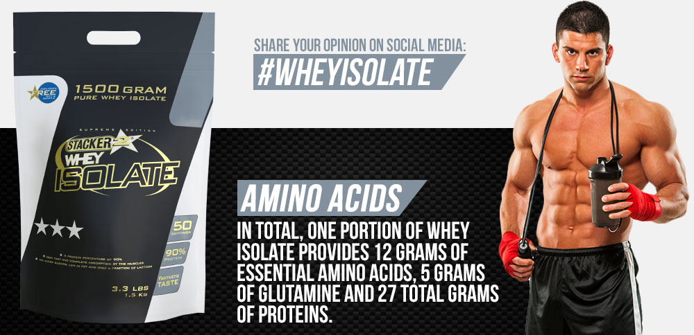 Stacker2 Whey Isolate protein 1500g cena