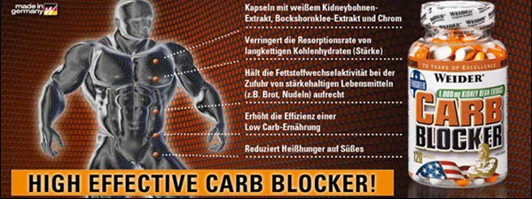 Weider Carb blocker 120kps dieta blokator sacharidov