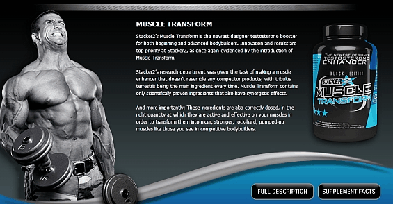 Stacker Muscle transform 168 kps