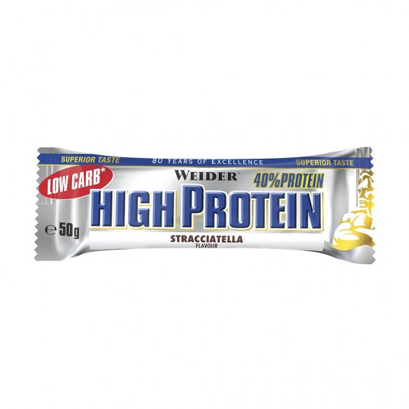 Weidwer tycinka proteinova Low carb high protein Bar 50g