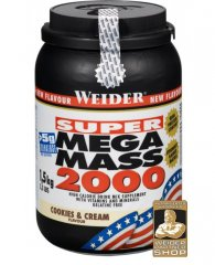 Weider Gainer Super Mega Mass 2000, 1500 g