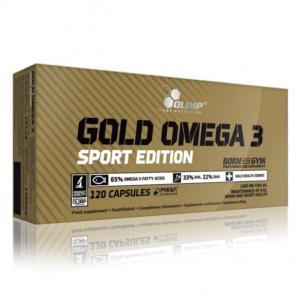 Olimp Gold Omega 3 Sport Edition, 120 kps