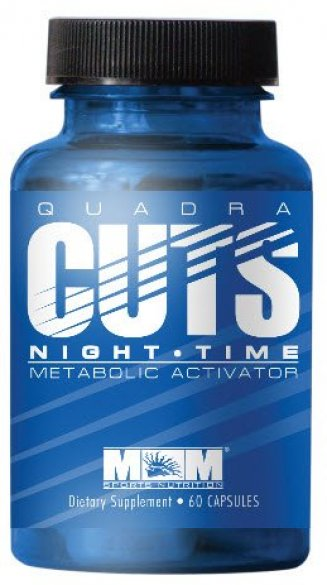 Max Muscle Quadra Cuts Night Time, 60 kps