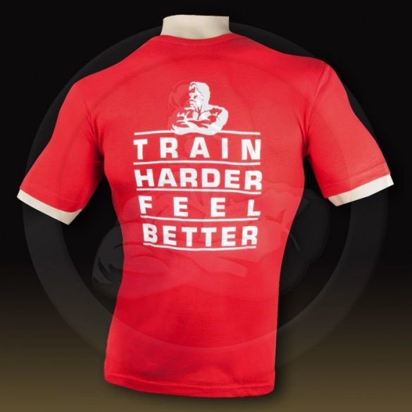 Weider Pánske tričko Train Harder Feel Better Červené