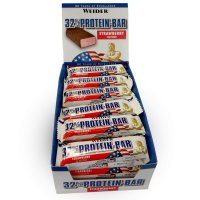 Weider 32% Protein Bar 24x60 g, strawberry