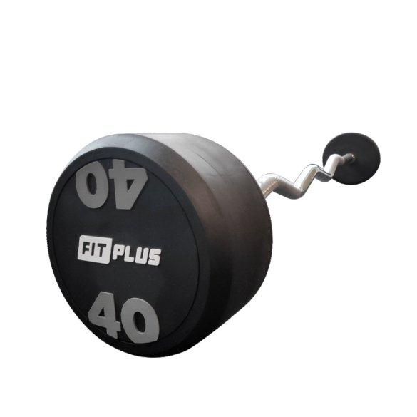 FIT PLUS obojručná EZ činka pevná 40 kg