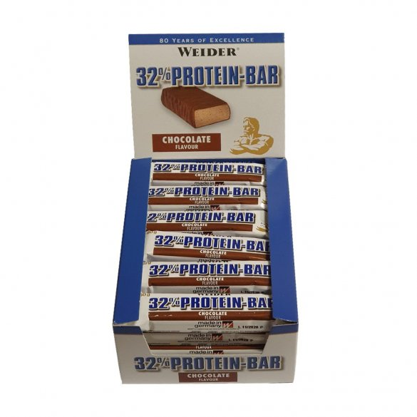 Weider 32% Protein Bar 24x60 g, chocolate