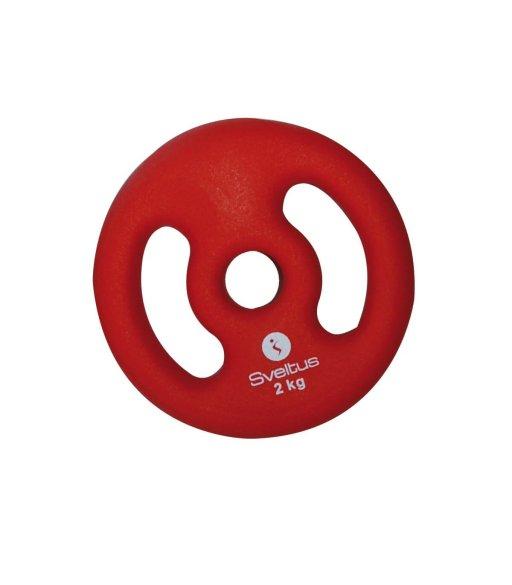 Sveltus Kotúč s rukoväťami 1x 2 kg, červený