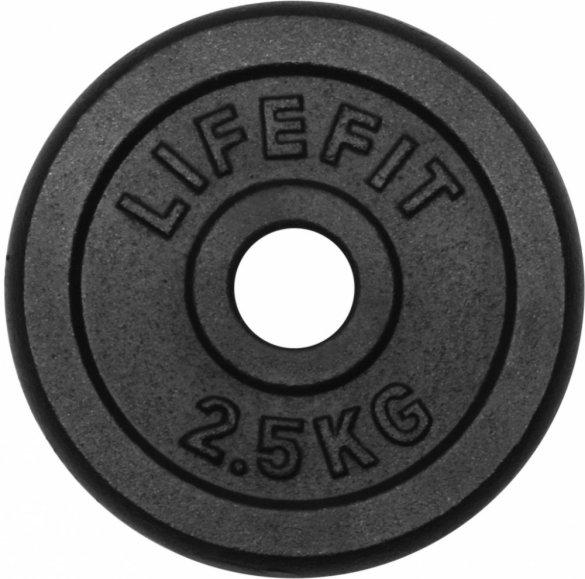 Kovový kotúč na činku 2,5 kg, 30 mm otvor