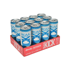 Body Attack BCAA KICK Drink, Energy, 12x330ml fitplus